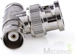 Zilveren Nedis Antenna Adapter | BNC Male - 2x BNC Female | 10 pieces | Metal