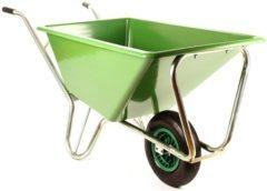 Soer Meppel Kruiwagen Forza Groen 160 liter Met Enkele Luchtband