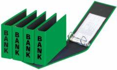 Pagna ringmap (PCR) formaat 14 x 25 cm groen glans uitvoering met zwarte belettering