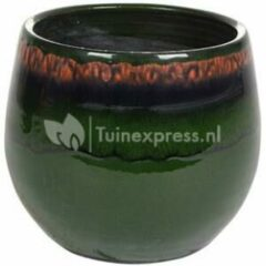Donkergroene Ter Steege Pot Charlotte groen bloempot binnen 23 cm