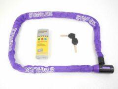 Deltafix Stahlex Ø5mm / 120cm kettingslot fietsslot | 635g ideaal gewicht voor een fietser | zeer goede kwaliteit | paars