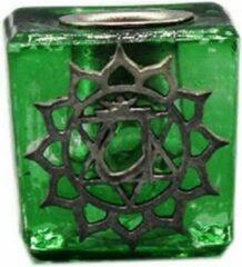 Groene Green Tree Candle Company Glazen Kaarshouder Hart Chakra