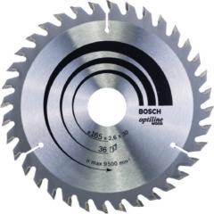 Cirkelzaagblad Optiline Wood 165 x 30/20 x 2,6 mm, 36 Bosch Accessories 2608640603 Diameter:165 mm Aantal tanden:36 Dikte:2.6 mm