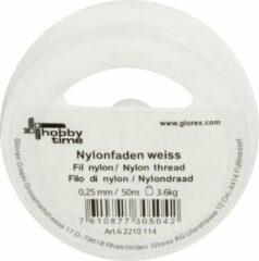 Glorex Hobby Nylon hobby draad wit 0.25 mm x 50 meter