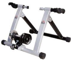 HOMCOM Rollentrainer Fahrrad Rennrad Heimtrainer Rolle Silber Rollentrainer Fahrrad Rennrad Trainingsgestell