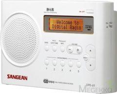 DAB+ Transistorradio Sangean DPR-69+ Wit DAB+, FM Accu laadfunctie Wit