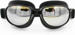 Zilveren Pothelm.nl Zwarte vliegeniersbril donker glas