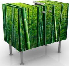 PPS. Imaging Waschbeckenunterschrank - Bambuswald No.2 - Badschrank Grün