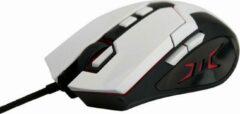 Witte Gembird MUSG-04 USB Optisch 3200DPI Rechtshandig Zwart, Wit muis