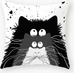 Dierenkussens Kussenhoes kat - kattenkussen - Sierkussen - 45x45 cm