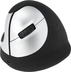 Zilveren R-Go Tools R-Go HE Mouse, Ergonomische muis, Medium (Handlengte 165-185mm), Linkshandig, draadloos
