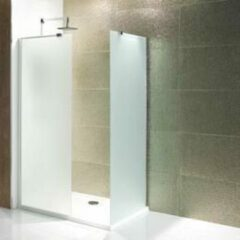 Douchewand Walk-In Inloopdouche 6mm gehard easy clean melkglas 185x30cm - Volente Eastbrook