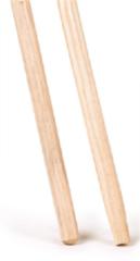 Bruine Linea Bezemsteel hout 150cm x 28mm gepunt Losse stelen