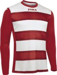 Joma Europa III Voetbalshirt Lange Mouw - Wit / Rood | Maat: L