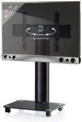 TV-Standfuß + Soundbar 'SBM400' | TV-Wandhalterung incl. Soundbarhalterung VCM silber/aluminium
