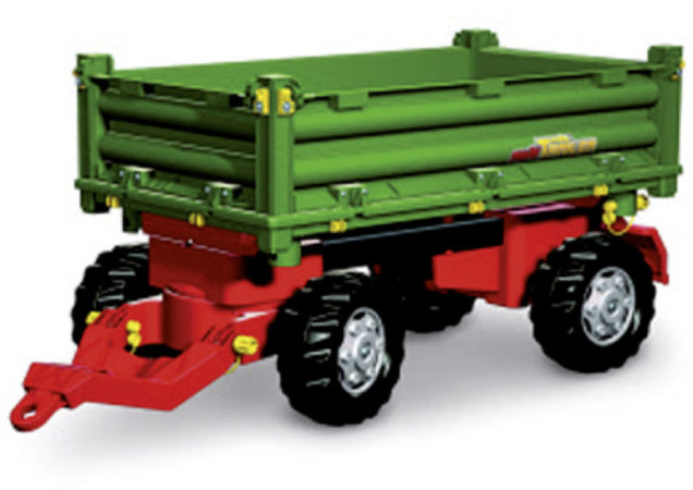 Afbeelding van Groene Rolly Toys aanhanger RollyMulti 2 junor groen