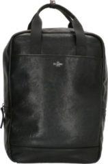 Charm London Ruime rugtas met laptopvak 15,6 inch (38 cm), zwart - Charm