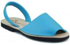 Blauwe Slippers Arantxa MENORQUINA LEDER