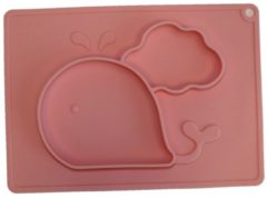 Anti-slip silicone 3D kinder placemat Walvis Roze | Kinderplacemat | Vaatwasser bestendig | Anti Slip | Super leuk | By TOOBS