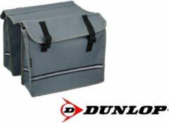 Dunlop Fietstas - Dubbele fietstas - Grijs - 26 Liter Inhoud