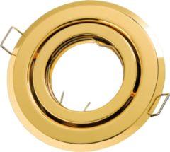 Groenovatie LED line Inbouwspot - Rond - Kantelbaar - GU10 Fitting - Ø 100 mm - Goud