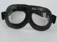 Pothelm.nl Zwarte pilotenbril helder glas