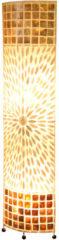 Globo Lighting Vloerlamp Globo Bali - Ovaal Metaal/Textiel