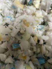 Witte Poufs&Pillows Goedkope kussenvulling 100 liter, (polyether) hoge kwaliteit vulling voor de doe-het-zelf 'er