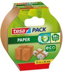 1x Tesa papieren verpakkingstape bruin 25 mtr x 38 mm - Milieuvriendelijk - Klusmateriaal - Verpakkingsmateriaal - Inpakmateriaal - Verpakkingsbenodigdheden - Verpakkingstape/inpaktape - Dozen afsluittape