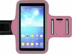 ADEL Sportarmband 5.5 Inch Microfiber Hoesje voor Huawei Y7 - Roze