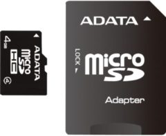 ADATA Technology Co ADATA Flash-Speicherkarte (microSDHC/SD-Adapter inbegriffen) AUSDH4GCL4-RA1