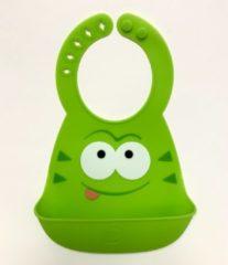Silicone kinder slabbetje Groen| Zachte Slabbetjes| Makkelijk afspoelen | Opvangbak | Super leuk | By TOOBS