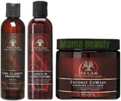 """As I Am Curl Clarity Shampoo & Leave-in Conditioner 8oz, Coconut Cowash Cleansing Conditioner 16oz""""SET"""