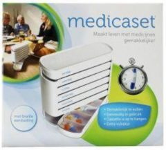 Blockland Medicaset medicijnbox wit 5V braille 1 Stuks