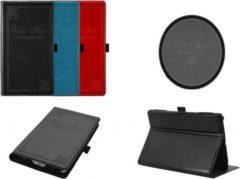 Blauwe Vintage Carpe Diem Hoes Case Cover voor Acer Iconia One B1 770, zeer stijlvol hoesje, blauw , merk i12Cover