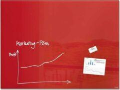 Sigel Glasmagneetbord Artverum rood 1200x900x18mm incl.2 magneten SI-GL212