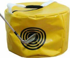 Gele Firsttee - Hitting Bag - SLA RECHT - HANDICAP verbeteren - Swingtrainer - Golf accessoires - Houding - Cadeau - Swing - Golf - Golftrainingsmateriaal - Training - Sport - Golfballen afslaan oefenen - Net - Trainingsmaterialen - Golfset - Trolley