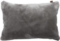 Grijze OVERSEAS sierkussenhoes Fur (30x50 cm)