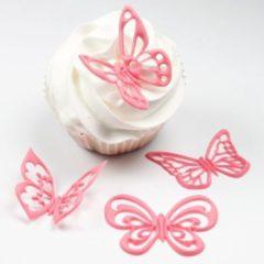 Zwarte J''E''M JEM Fantasy Butterflies Cupcake Tops Set/4
