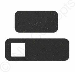 Duurzame WebcamCover IN-VI® (3 pack) vierkant zwart - Geproduceerd met diverse natuurlijke grondstoffen * Dunste privacy biowebcamcover protector spy schuifje ✓ Betrouwbaar 3M glue