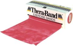 Thera-Band Theraband Weerstandsband Oefenband Rood - 5,5 meter lang - Medium Weerstand