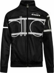 Zwarte Trainingspak jasje Diadora Jacket 80s Bold