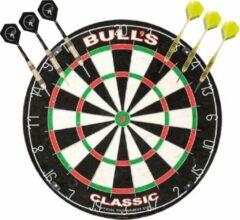 Merkloos / Sans marque Professioneel dartbord Bulls The Classic incl 2 sets dartpijlen 23 grams - Sportief spelen - Darten/darts - Dartborden voor kinderen en volwassenen.