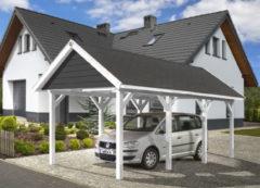 Weka carport 614 GR.1 grijs/wit 294x591cm