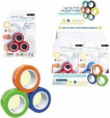 Blauwe Merkloos / Sans marque FinGears, Magnetische Ringen, Fidget Toy