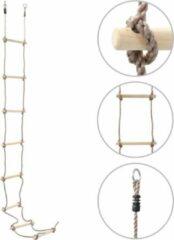 Merkloos / Sans marque Touwladder Kinderen 290CM Hout - Klim ladder - Ladder touw kinderen