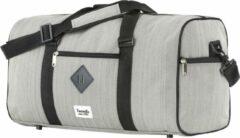 TravelZ Hipster Reistas | 36 liter compacte weekendtas | 53 x 28 x 24cm | Grijs