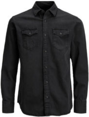 Jack & Jones Jack and Jones Sheridan Heren Overhemd Zwart Kent Slim Fit - XL