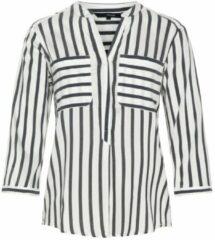 Witte VERO MODA Gestreepte Shirt Met 3/4 Mouwen Dames White