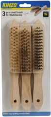 KINZO Staalborstel Set Lengte: 26 centimeter - Staal